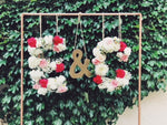 Fresh Floral Monogram Letters - The Wedding Market