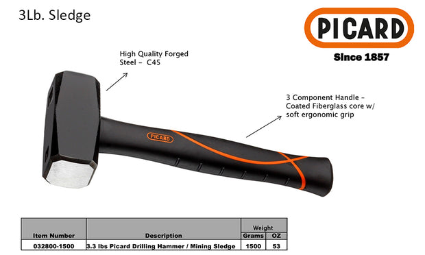 High Quality forged stell hammer with 3 component handle coated with fiberglass core with soft ergonomic grip