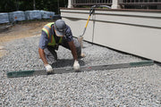 8' level with hand holes for screeding and easy on the site calibration