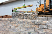 Building retaining walls with BL-450