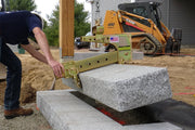 Using the Quick-E-BL 850 picking up a Granite Step Tread