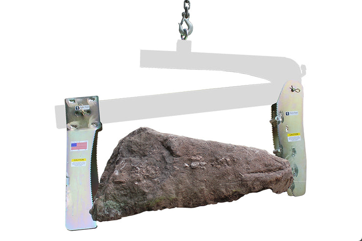Quick-E Boulder Grab attachment works with the BL980 to pick larger boulders easily