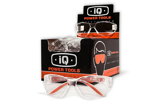 iQ Safety Glasses, Clear, Boxed