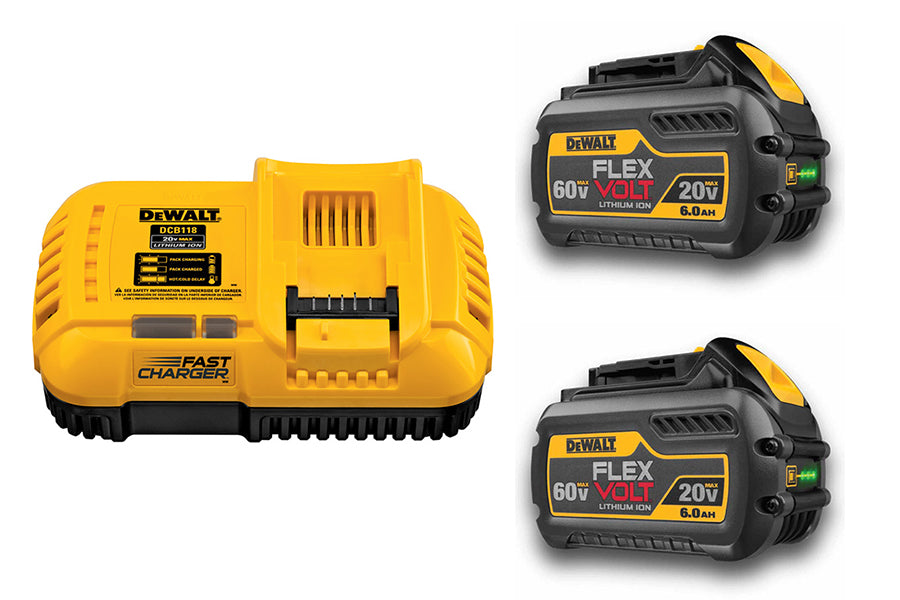 Elite Suction System Power. Dewalt Battery Charger and Dewalt 20v 6aH battery