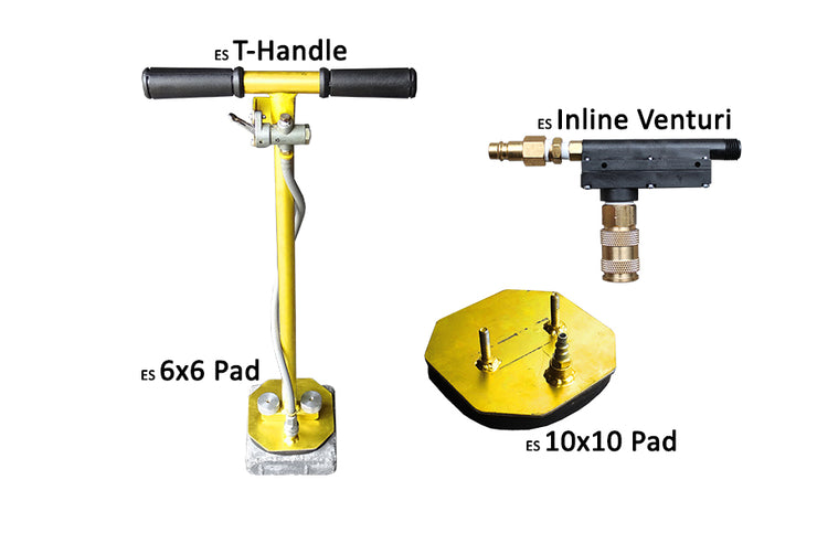 ES T-Handle with Inline Venturi, Inline Venturi, ES Inline Venturi, Quick-E-ES T-Handle, T-Handle, Suction Paver Equipment, Suction Equipment