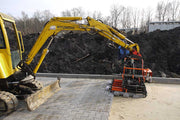Multi 6 in action laying pavers for a commercial industry
