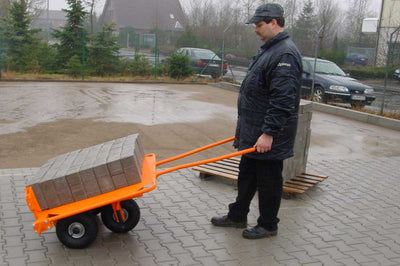 Optimas sold by Pave Tool Innovators  paver cart caddy Pallet carrier for hardscaping