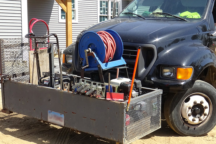 Quick-E-Plow Mount Organizer on the Bahler Brothers Truck.