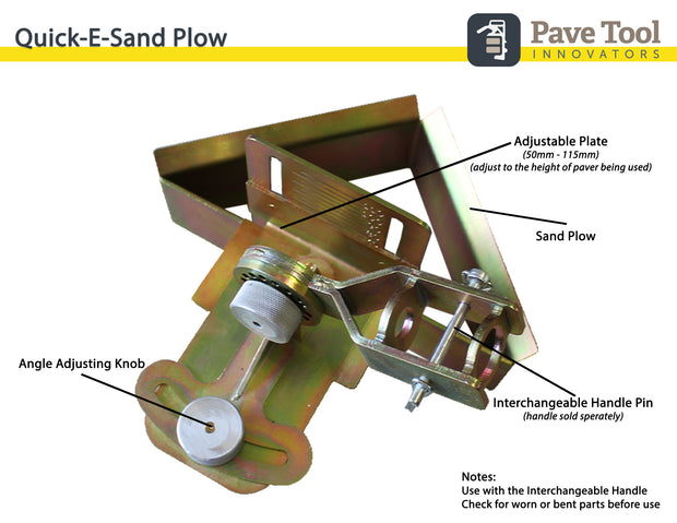 Quick-E-Sand PlowQuick-E-Sand Plow, Sand Plow for Pulling Sand away from a paver edge for a level setting bed for Quick-E-Hybrid Edging, Edging, Hybrid Edging