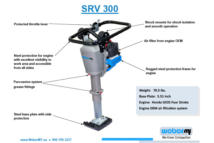 Weber SRV 300 Rammer - NOTE: Call the experts for your free quote and payment options @ 860-870-8665
