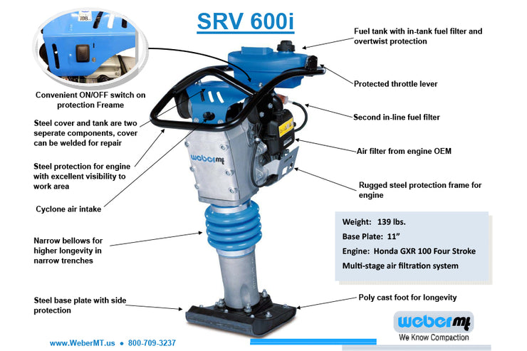 Weber SRV 600i Spec Sheet