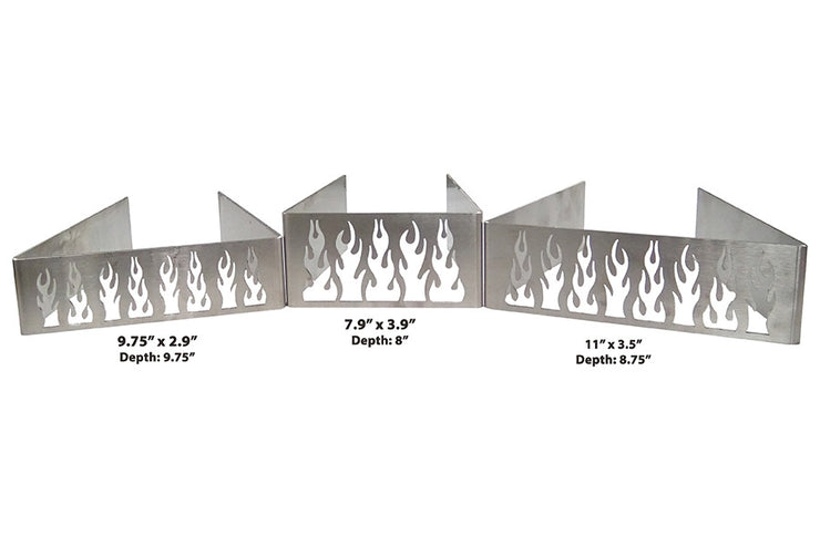 Quick-E-Vents, Vent Sizes, 3 different sizes, vents, flame vents