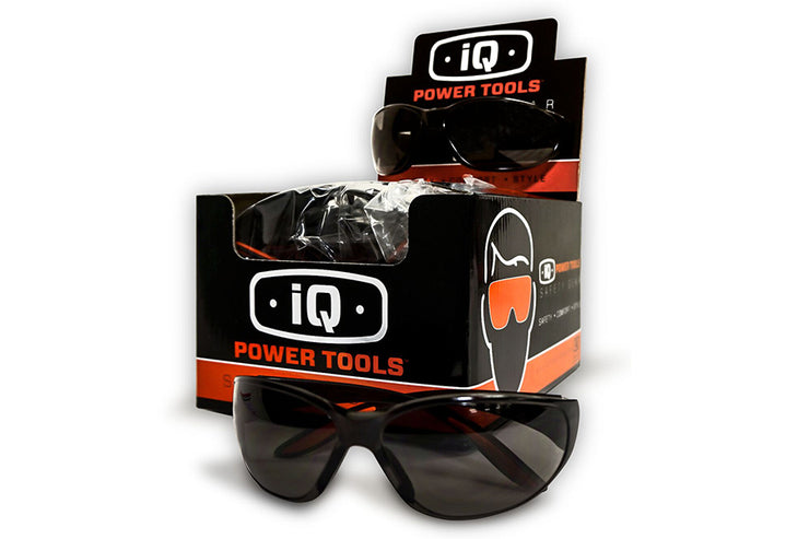 iQ Power Tools Tinted Safety Glasses, $49.50 box of 12