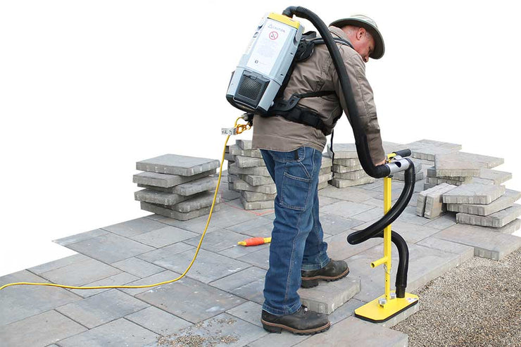 T-Handle Mac Vax System for picking porous and non porous pavers - the backpack option