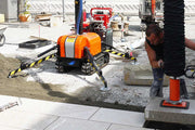 Optimas Vacu Mobile Allrounder sold by Pave Tool is large commercial suction equipment that uses its integrated vacuum hose lifting technology, the Allrounder performs pallet transport and weightless, exact and economical paver laying for concrete and natural stone elements of up to 300 pounds. Suitable for Granite, Bluestone, Wet Cast, Natural Stone and Dry Cast!