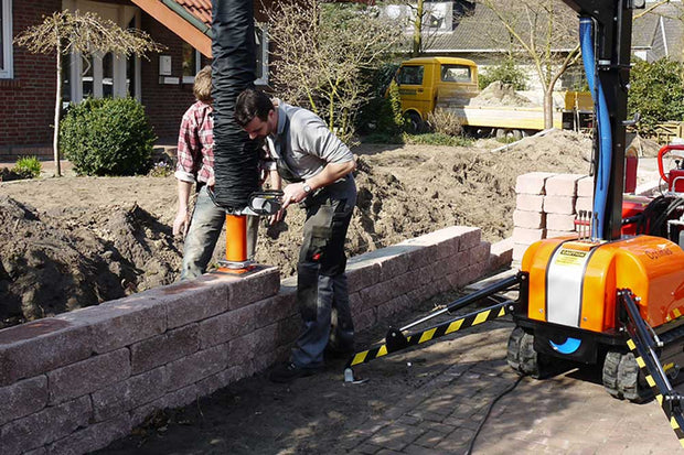 The VacuMobile allrounder is great for picking stone for large commercial hardscaping jobs.