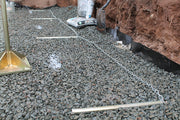 Quick-E-Wall Screed, Wall Screed System, Wall Base, Retaining Wall System, Wall Chains, Wall Leveling Chains