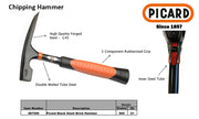 Picard Chipping Hammer sold by Pave Tool is high quality forged steel with 2 component rubber sized grip with double wall tube steel and inner steel tube