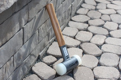 Craft60 Mallet by Halder Hammers is a no bounce 4 pound dead blow with a hard nylon head