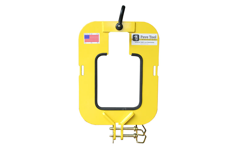 ES Housing Unit powder coated with hook and pins to hold the ES Standard Power Pack or ES Wireless Power Pack when using an excavator