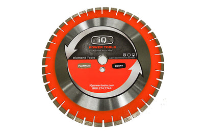 "iQ Power Tools Blade, iQ Blade, iQ Quiet Xtreme Orange 12"" Saw Blade, Segmented Blade"