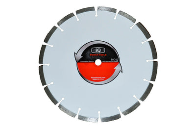"iQ Power Tools Blade, iQ Blade, iQ Ultimate Silver 12"" Saw Blade, Segmented Blade"