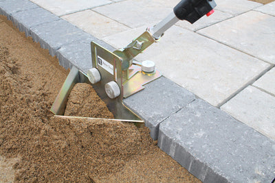 Quick-E-Sand Plow, Sand Plow for Pulling Sand away from a paver edge for a level setting bed for Quick-E-Hybrid Edging, Edging, Hybrid Edging