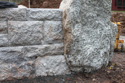 Quick-E-Scribe Marking Retaining wall into Natural Boulder
