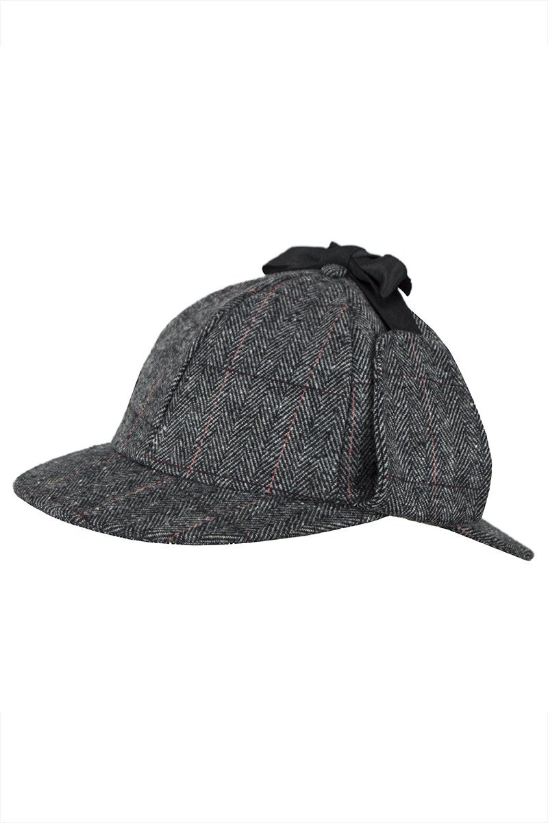 Tweed Deerstalker Hat (Etive Grey) – Great Scot (Scotland) Ltd eeb1a0db375