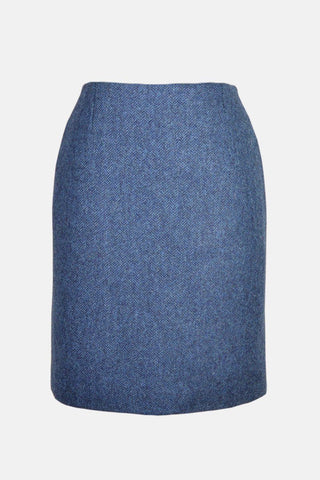"Tailored Tweed 21"" Skirt (Lorne Blue Tweed)"
