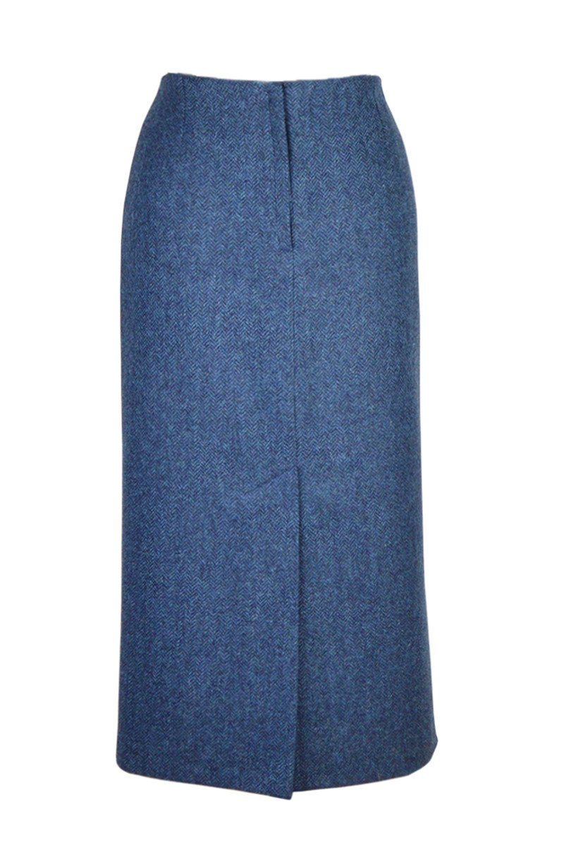 "Tailored Tweed 31"" Skirt (Lorne-Blue)"