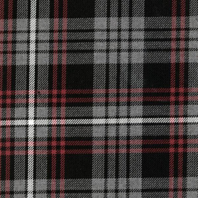 Great Scot Tartan Plaid Auld Lang Syne (Grey) red white