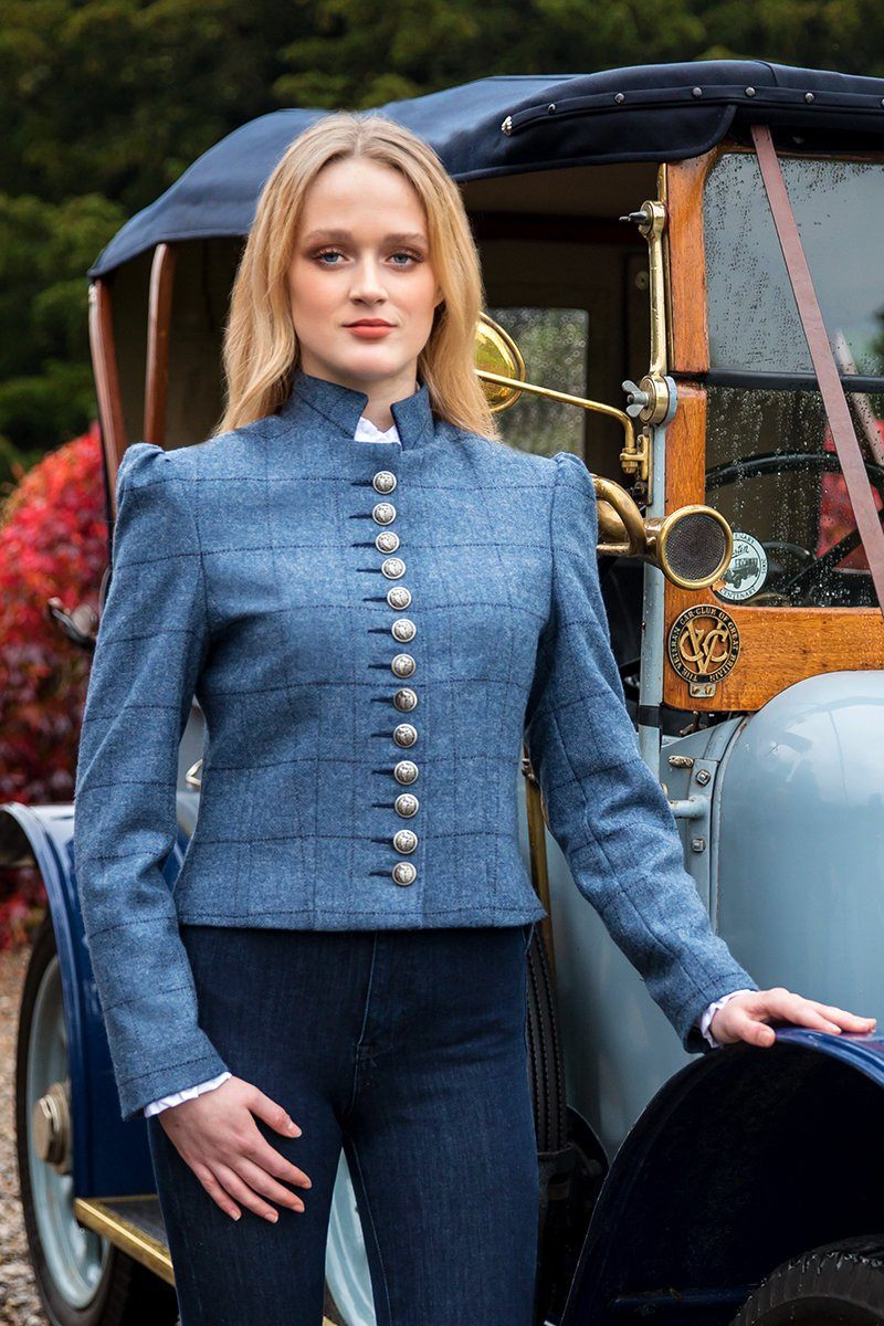 Bovary Jacket (Lossie-Blue Tweed)