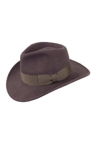 Lady's Brown Wool Felt Western Style Hat