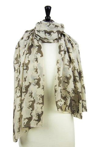 Multi-Tie Scarf (Galloping Ivory & Cinnamon)