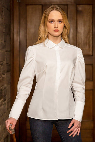 The Great Scot Edwardian Blouse (Fresh White)