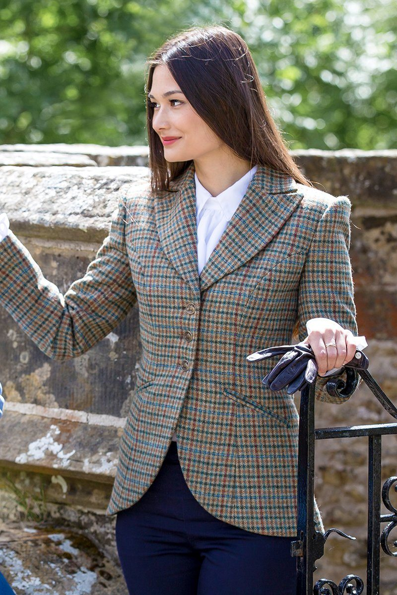 Great Scot Emmeline Jacket Coat Aberfeldy Multi-check Tweed Victorian