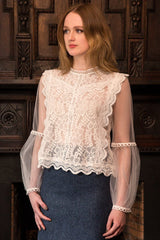 The Georgian Blouse (Ivory)