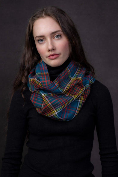 SAMPLE Medium Tartan Infinity Scarf (non-wool)