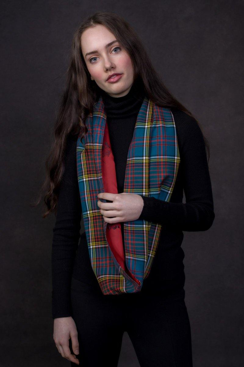 Custom Tartan Infinity Scarf  (Medium)