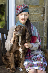 Fairisle Beret  (Moonflower)