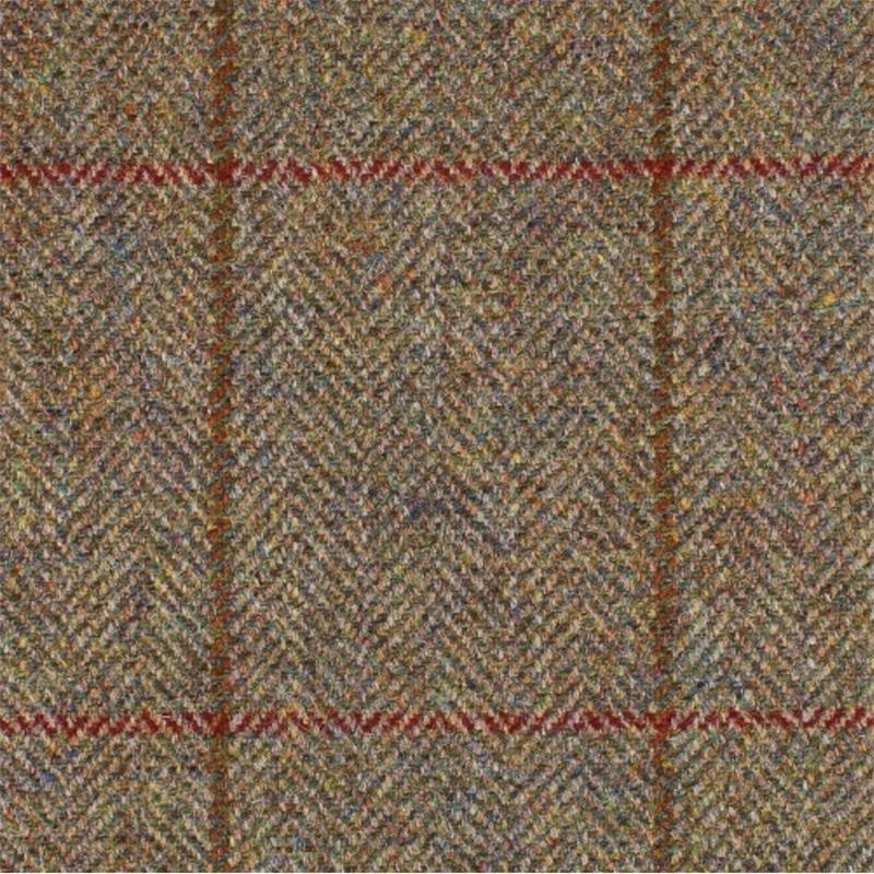 Great Scot Annan Tweed brown with brown and red overcheck
