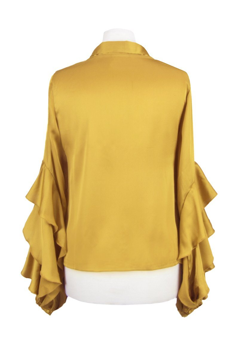 The Bacall Blouse (Gold)