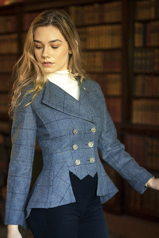 Lady Mary Jacket (Lossie-Blue Tweed)
