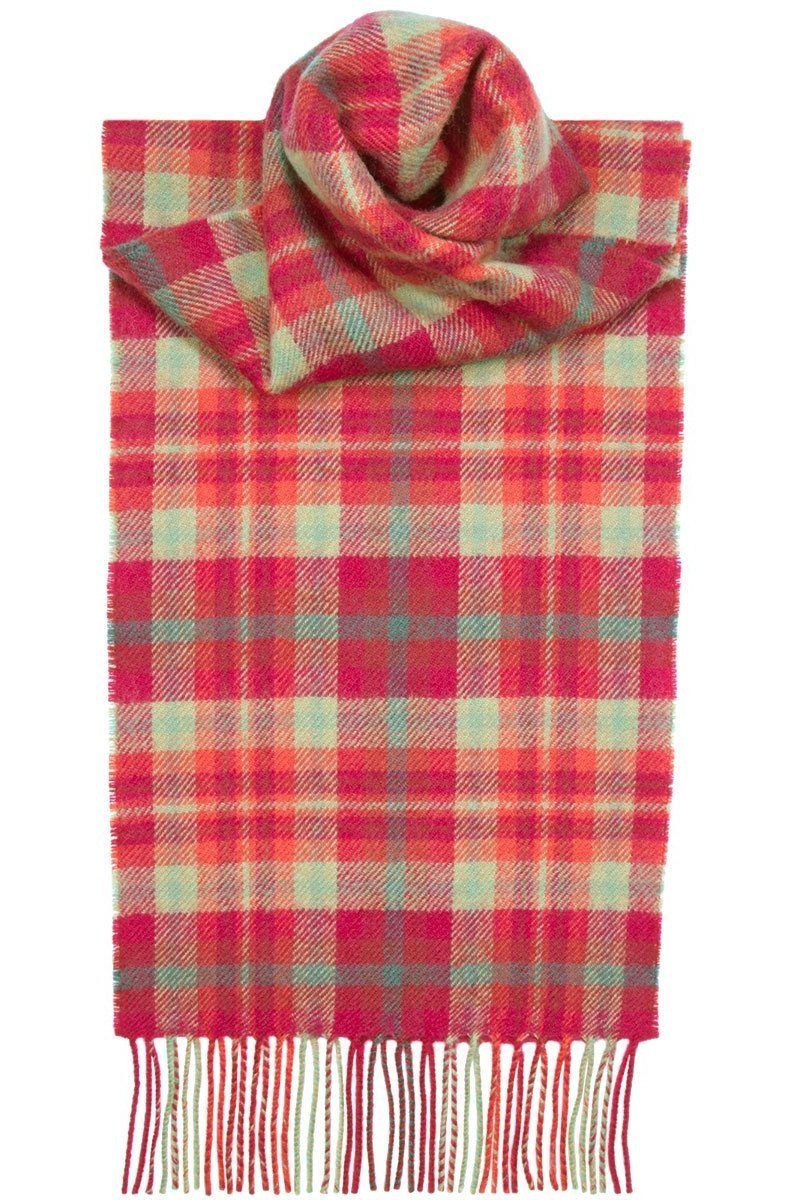 Luxury Lambswool Scarf (Highland Rose)