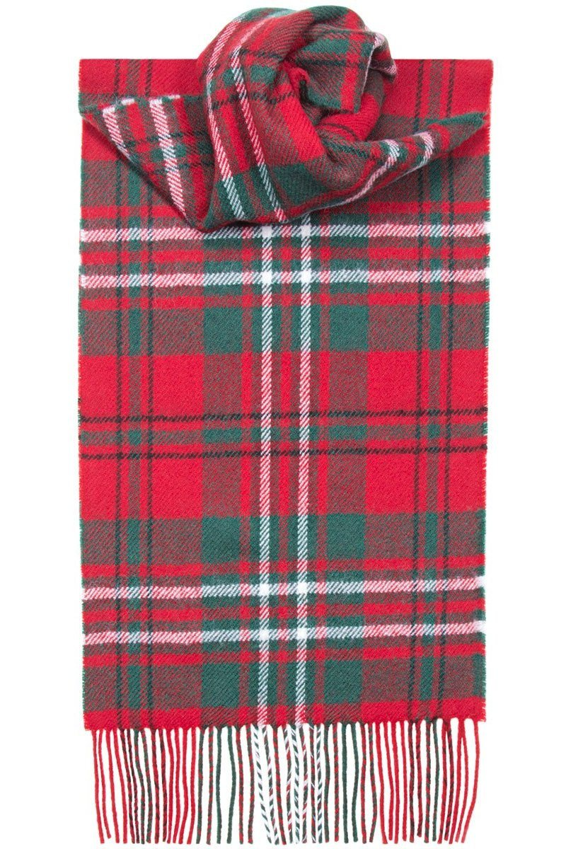 Luxury Lambswool Scarf (Scott Red Modern)