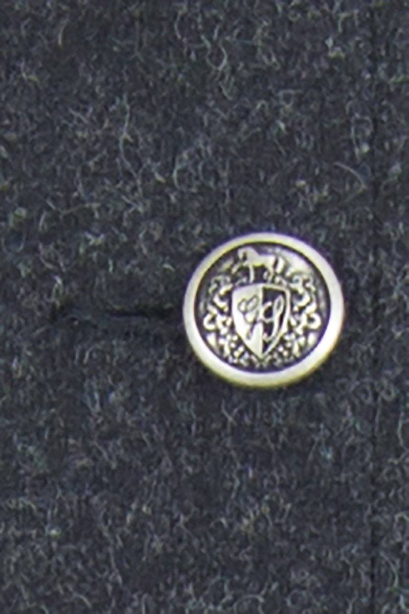 Great Scot Heraldic Button Silver detail