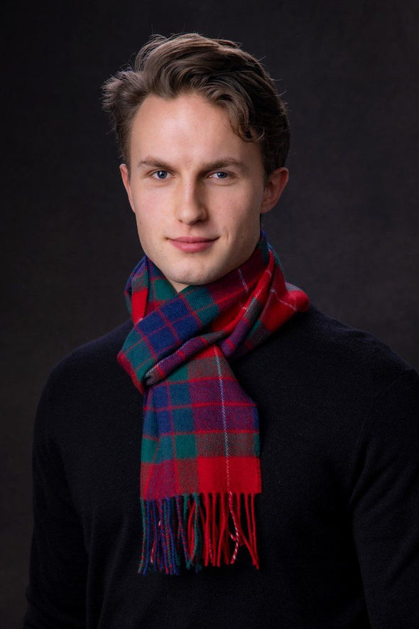 Luxury Lambswool Scarf (Fraser Red Modern)