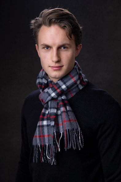 Luxury Lambswool Scarf (Thompson Grey)