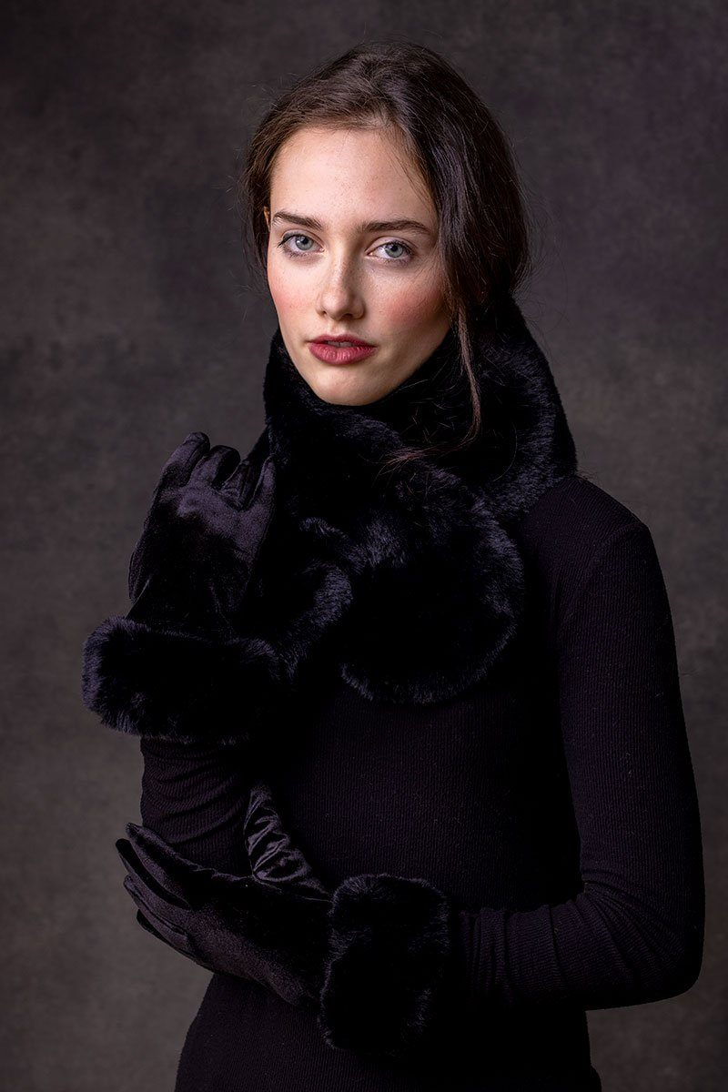 Francesca Faux Fur Collar (Black)